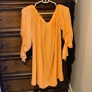 Jessica Simpson Striped Coverup